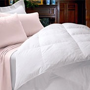 Cuddledown 600 Fill Power White Goose Down Damask Striped Comforter Review